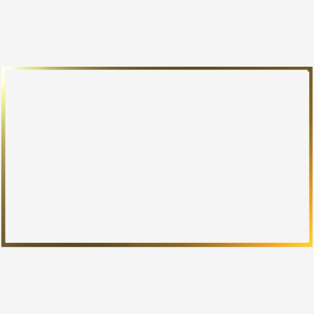Rectangle Golden Frame, Rectangle, Rectangle Border, Gold Pattern.