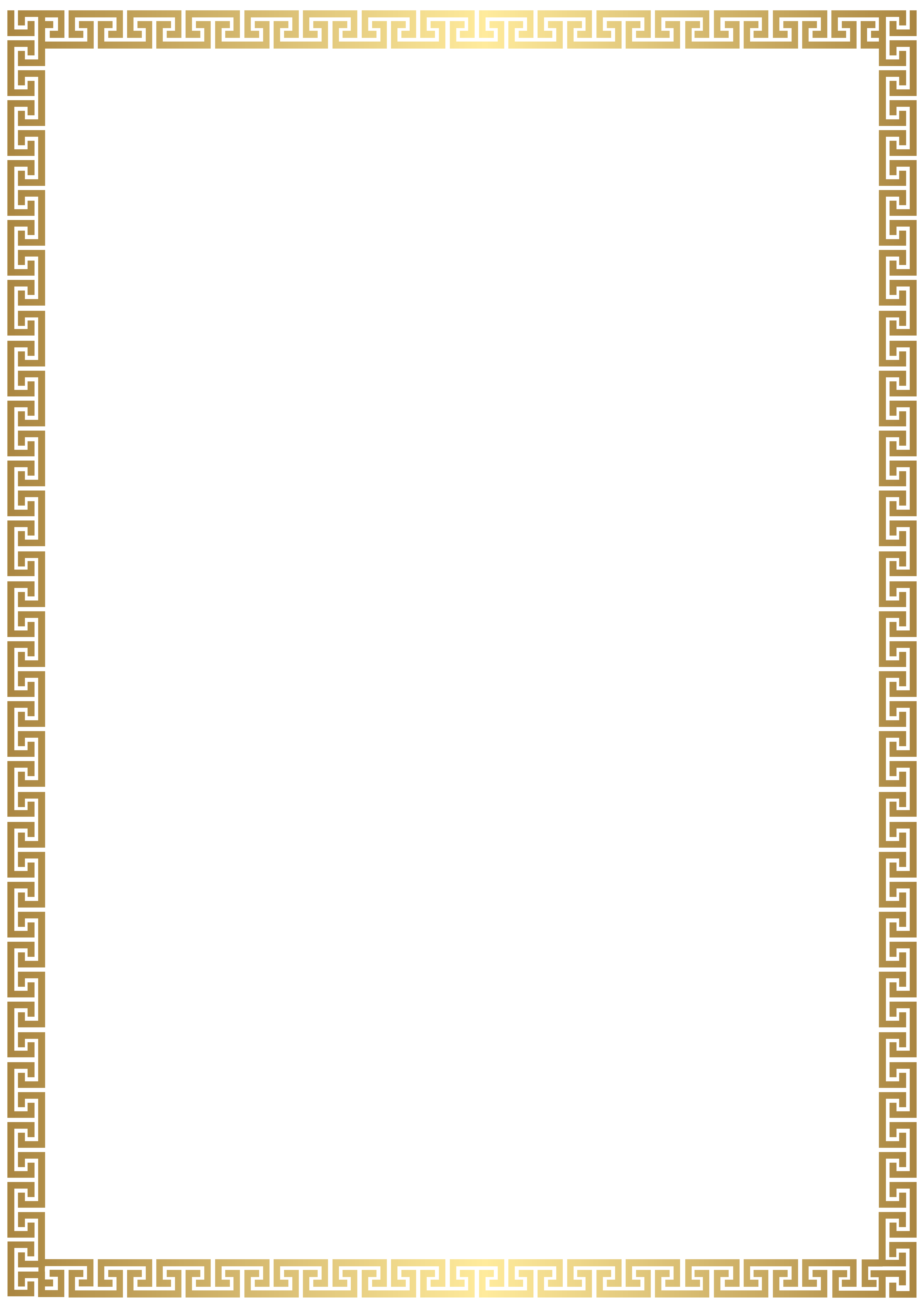 Download Golden Deco Gold Border Transparent Rectangle Clipart PNG.