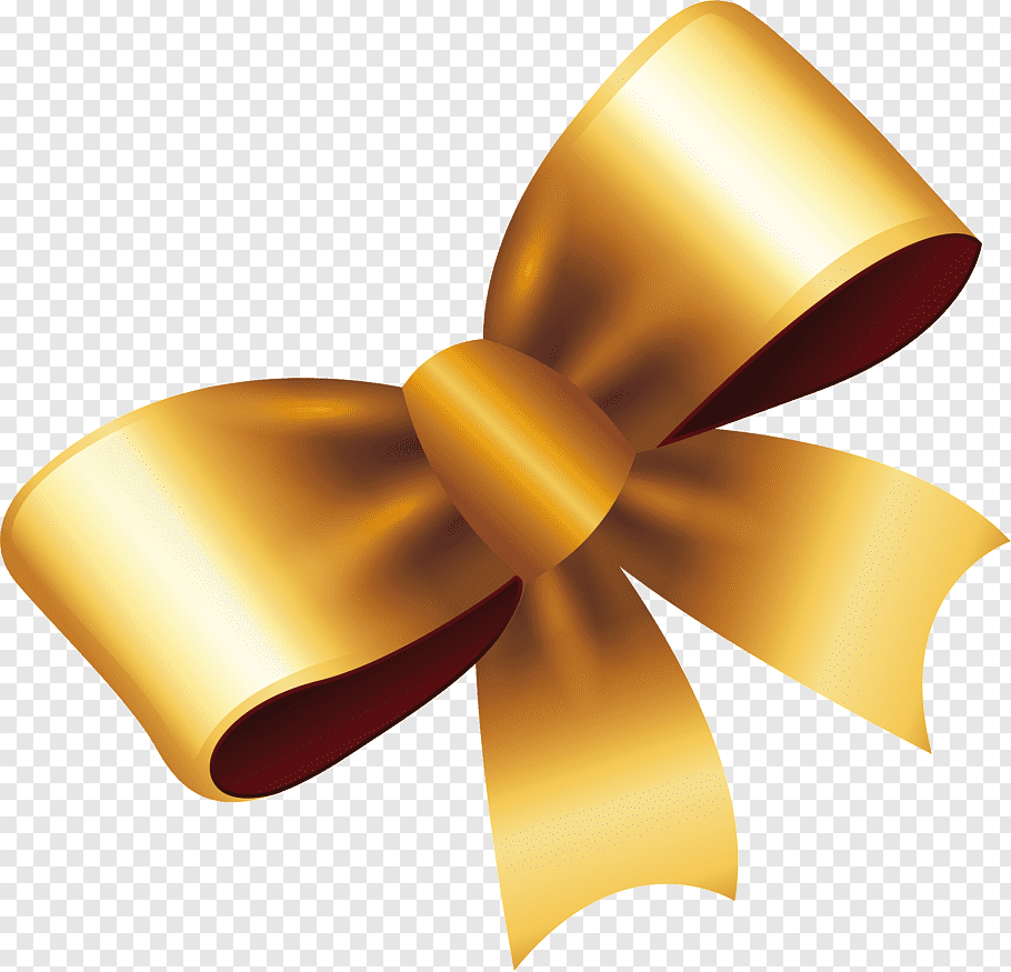 Gold ribbon template, Ribbon Gold Gift, Exquisite gold bow.