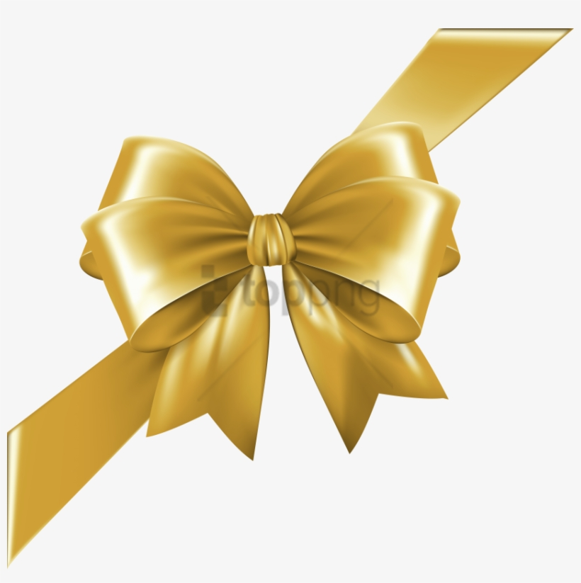 Gold Christmas Bow Png.