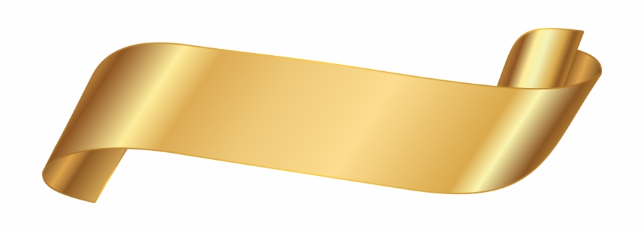 Gold Ribbon Banner Png , Png Download.