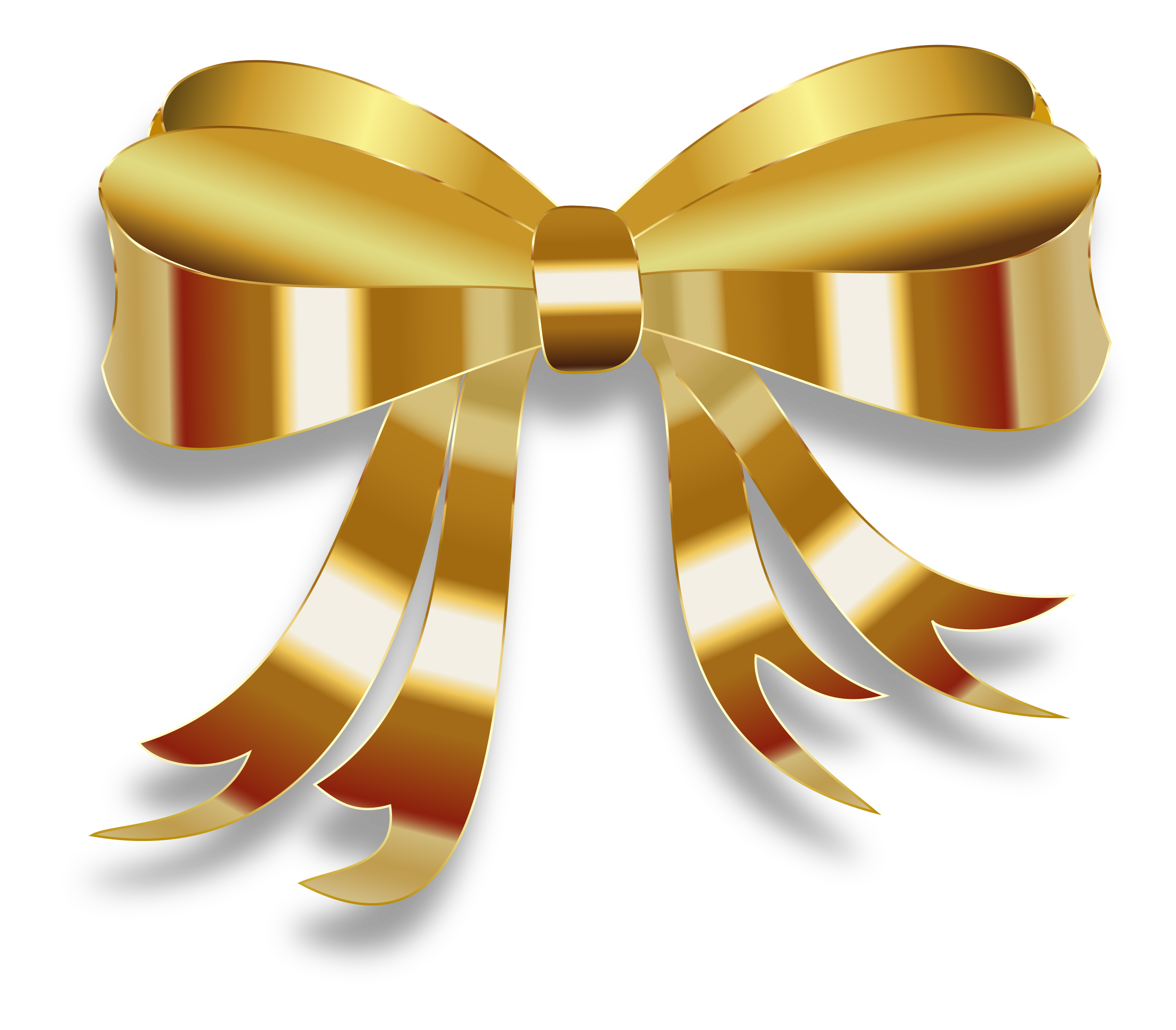 Ribbon Gold Clip art.