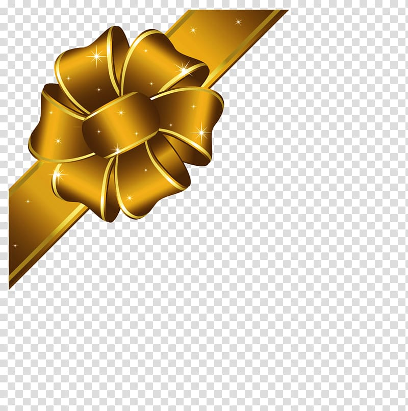 Gold Christmas Ribbon , Gold Ribbon transparent background.