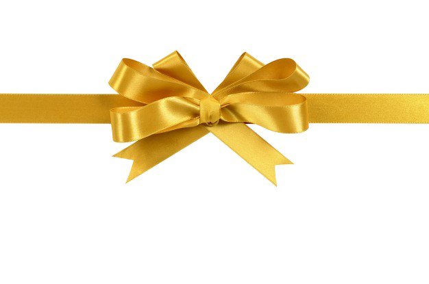Golden Ribbon PNG HD.