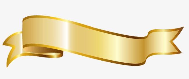 Gold Ribbon, Ribbon Clipart, Golden Ribbon, Ribbons PNG Transparent.