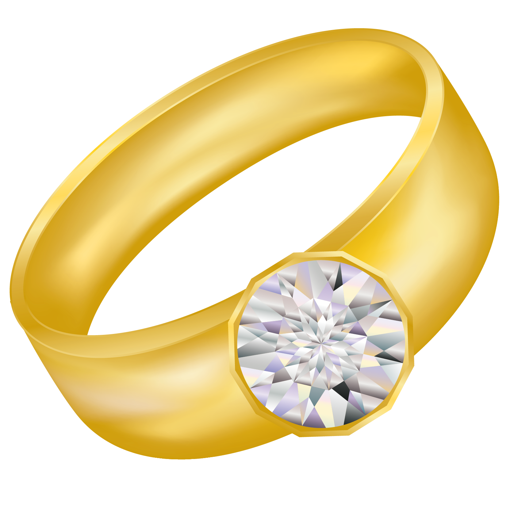 Gold ring clipart.