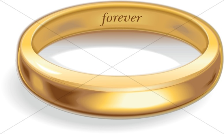 Gold Wedding Rings Clipart.