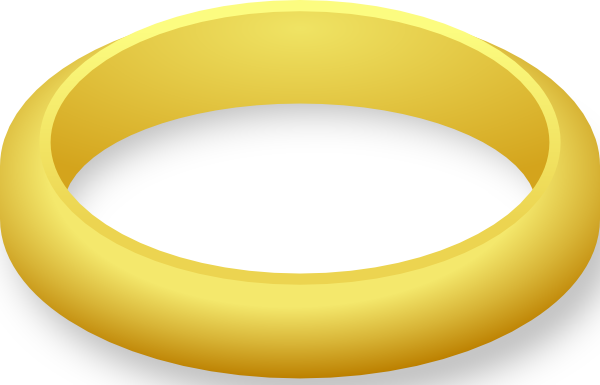 Golden ring clipart.