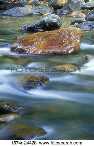 Pictures of Water flowing through rocks, Gold River, Mohawk Trail.