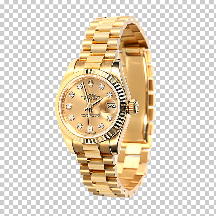 Rolex Mechanical watch Clock, Gold watches Rolex watches.