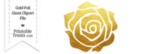 Large Rose Heart With Gold Bow PNG Clipart.