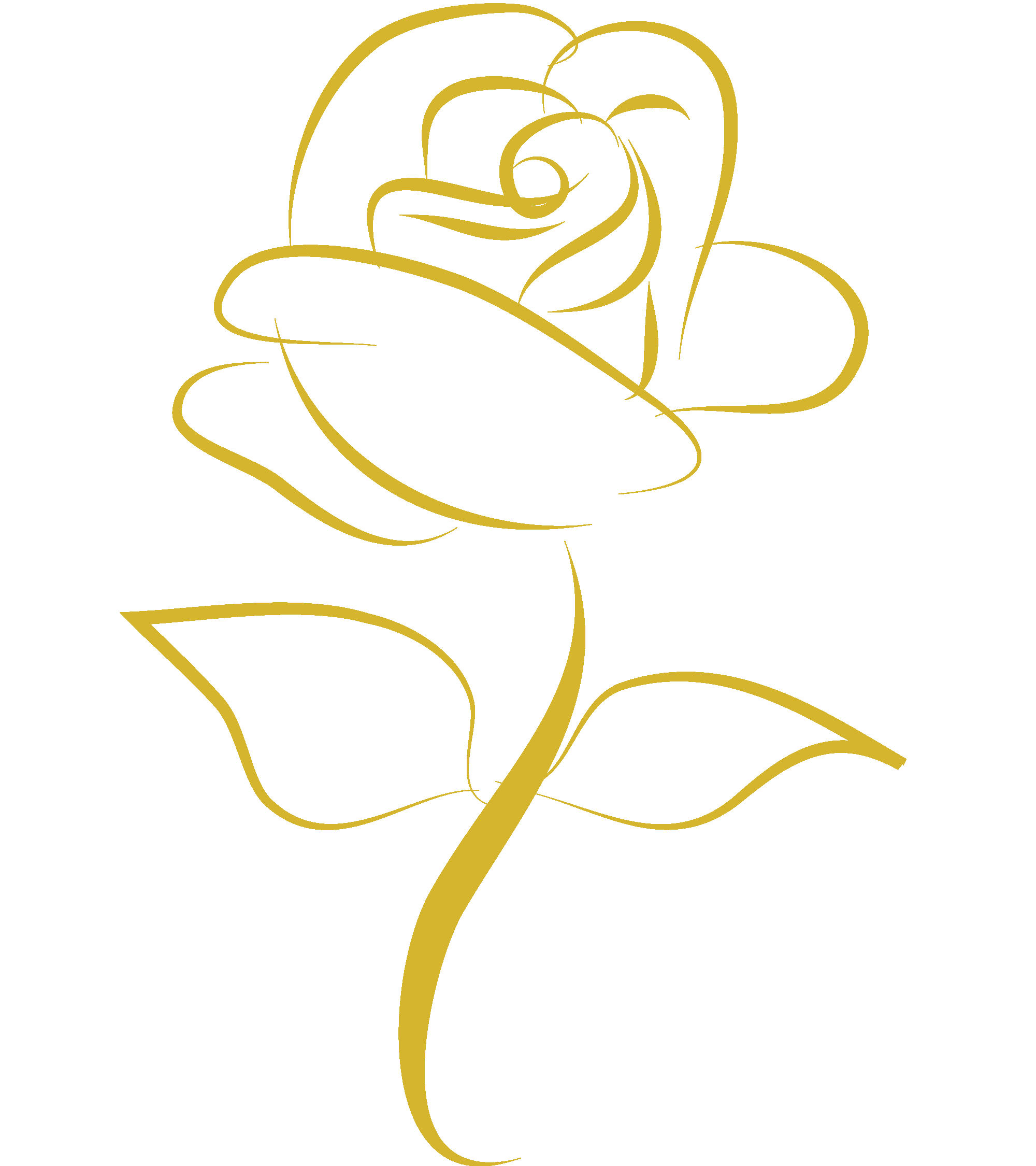 Clipart Of A Black And White Rose Flower 9.