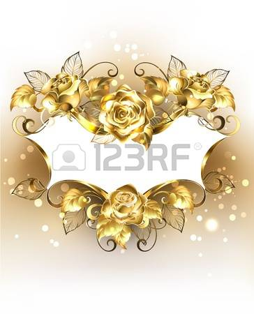 6,135 Gold Rose Stock Vector Illustration And Royalty Free Gold.
