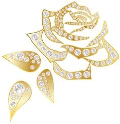 Golden Rose PNG Clip Art Image.