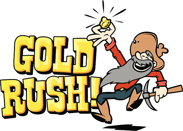 Best Gold Rush Illustrations, Royalty.