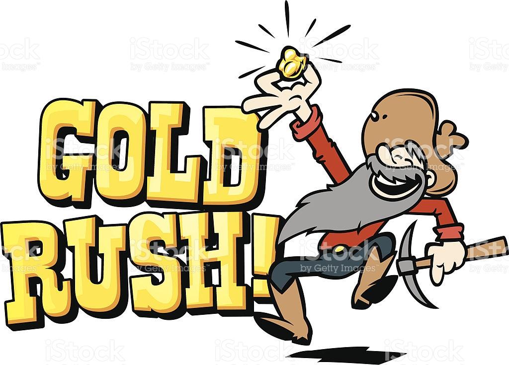 Gold Rush Text Stock Vector Art 165972482