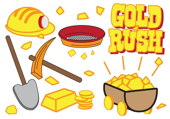 Gold Rush Icon set.