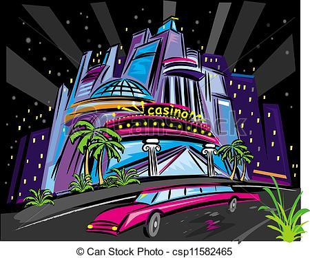 Casino night vector.