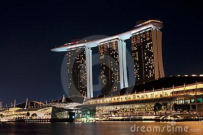 Singapore Casino Signage Royalty Free Stock Photography.