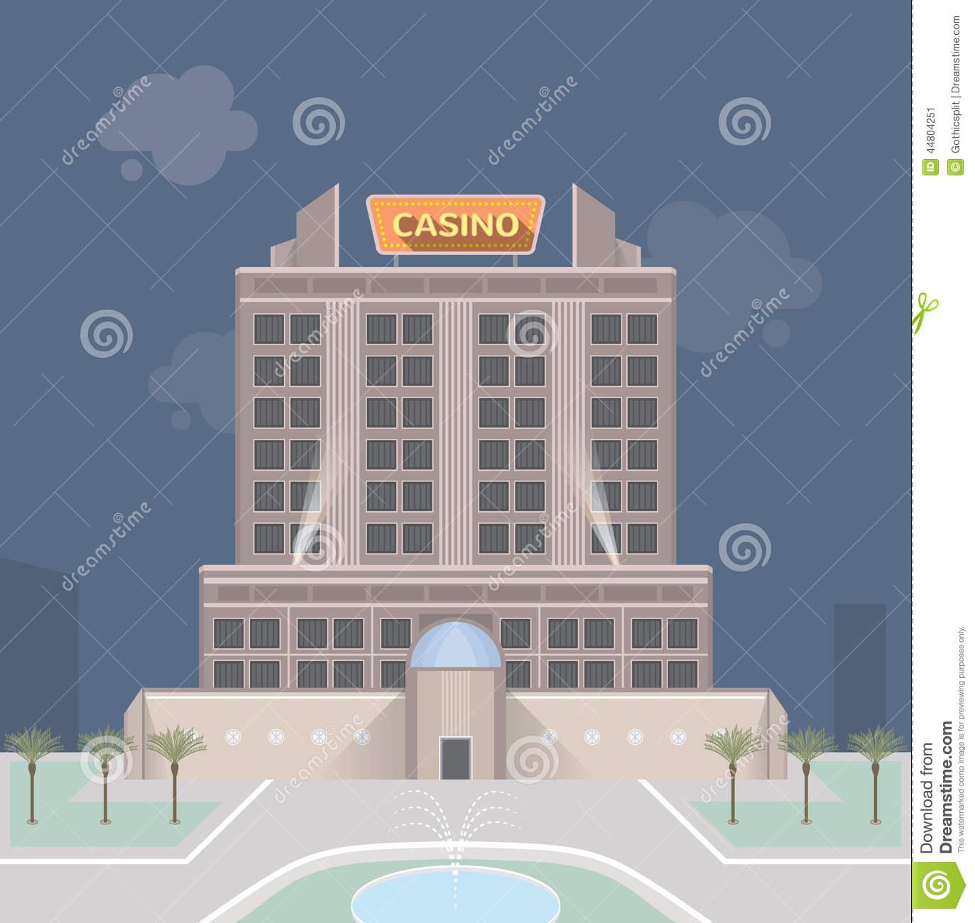 Casino Building Stock Illustrations.