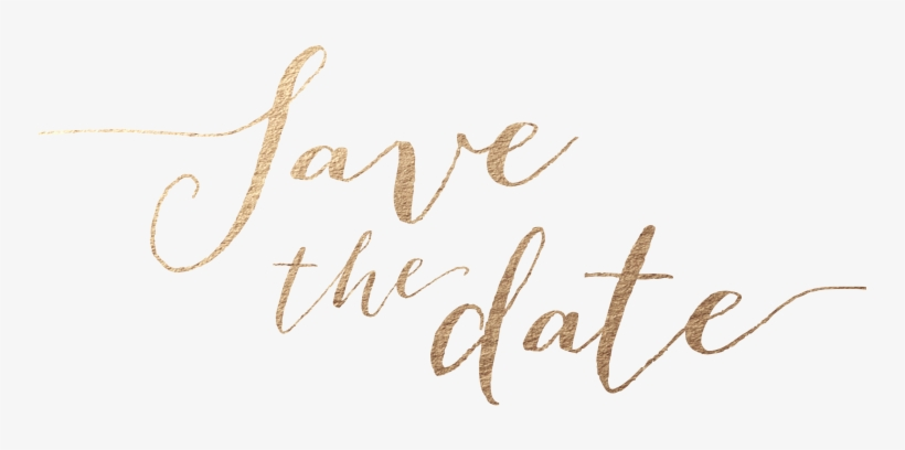 Gold Foil Save The Date Png PNG Image.