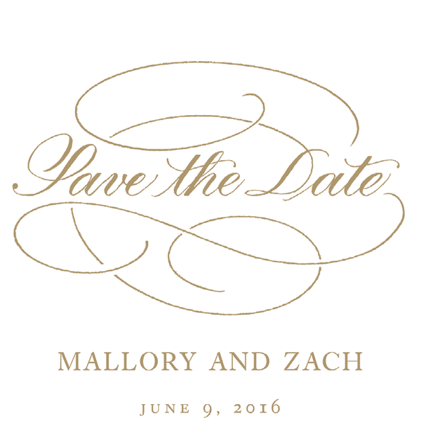 Download Free png Gold Flourish Save the Date.