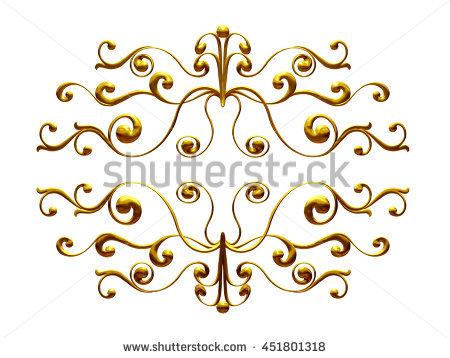 Flourish Golden Stock Photos, Royalty.