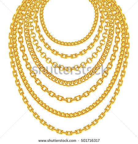 Gold Chain Vectores, imágenes y arte vectorial en stock.