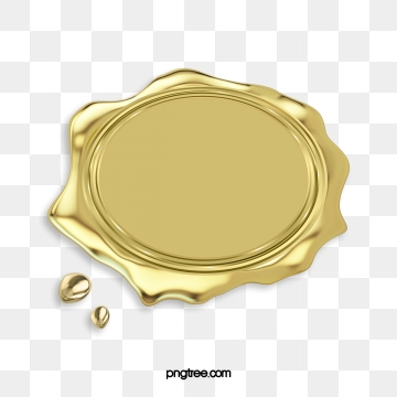 Gold Seal Png, Vector, PSD, and Clipart With Transparent Background.