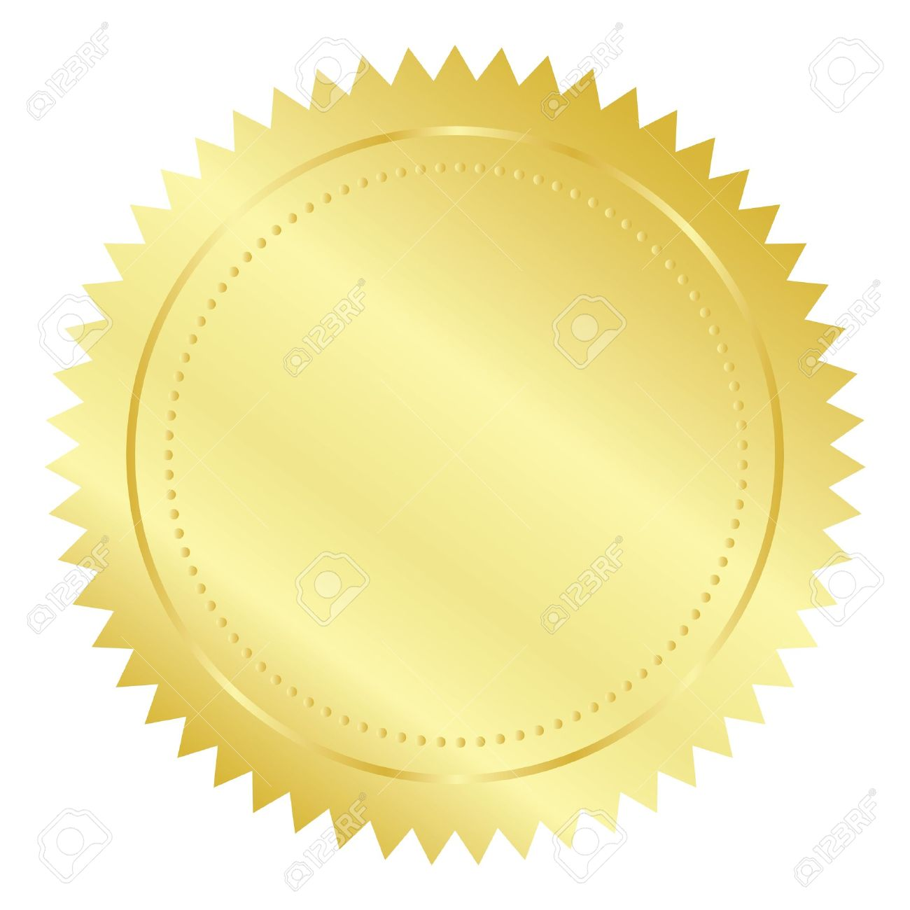 Vector illustration of gold seal.