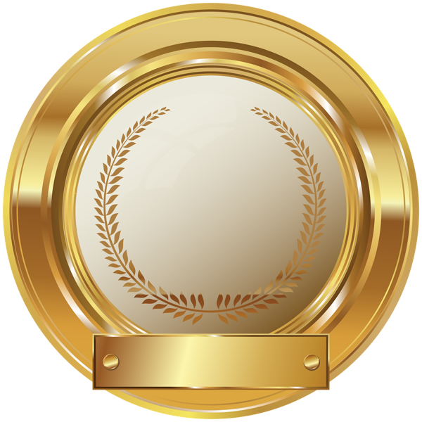 Gold Seal Png Vector, Clipart, PSD.