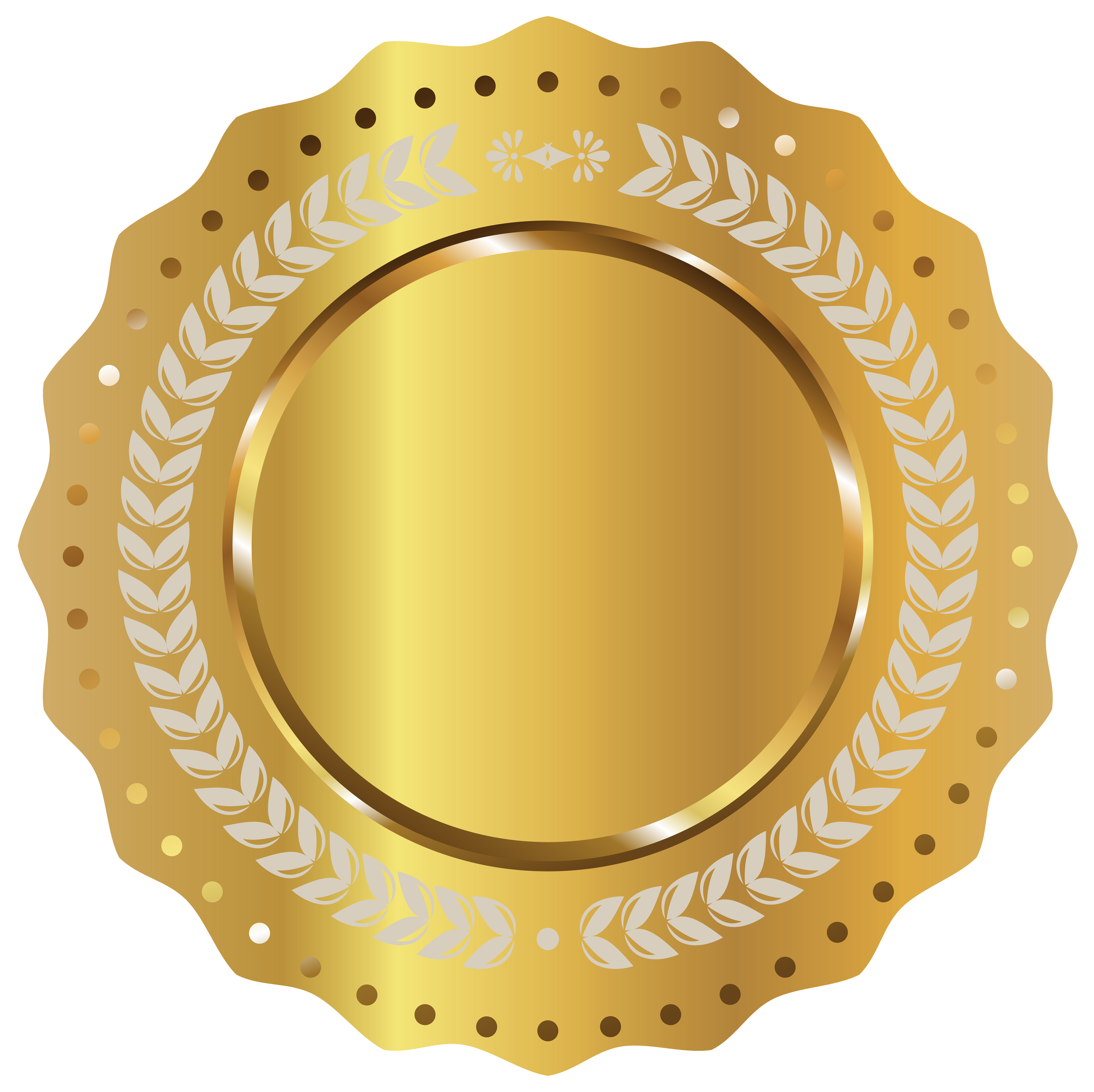 Gold Seal Badge PNG Clipart Picture.