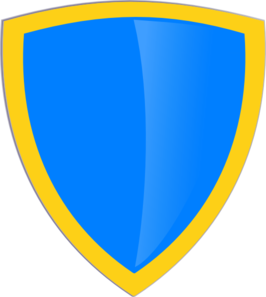 Blue Gold Shield Clip Art at Clker.com.