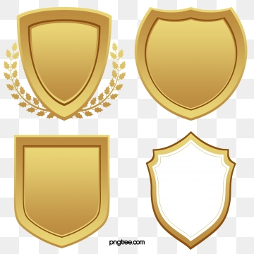 Golden Shields PNG Images.