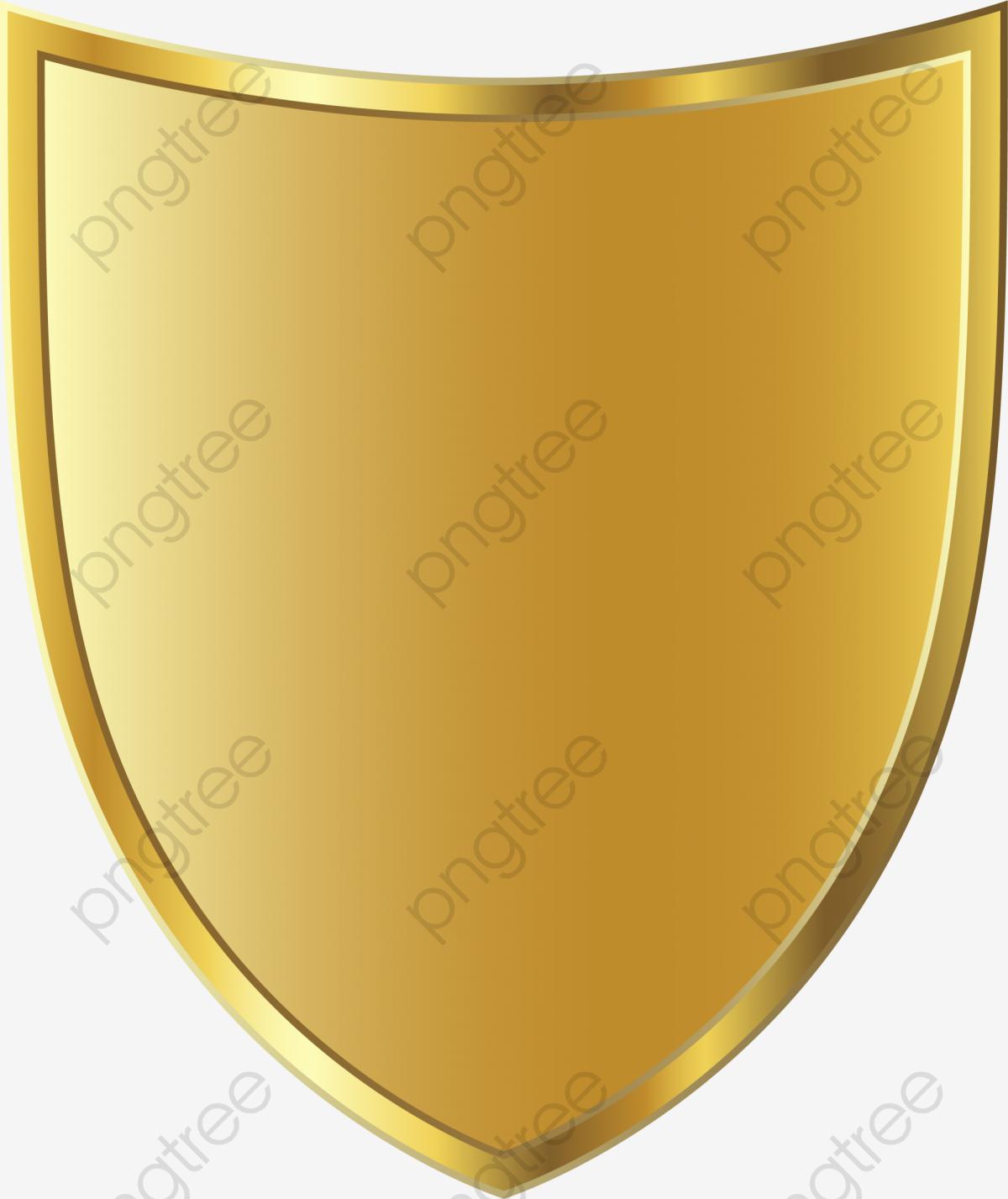 Golden Shield Badge, Shield Clipart, Golden, Shield PNG Transparent.