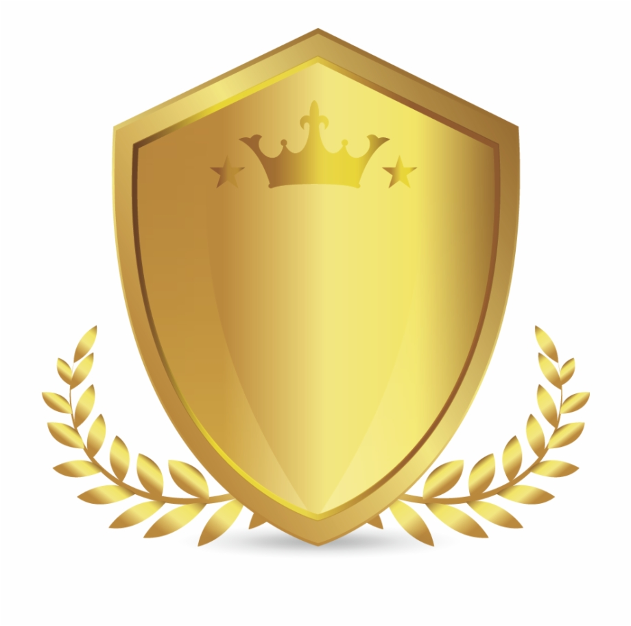 Gold Shield Png.