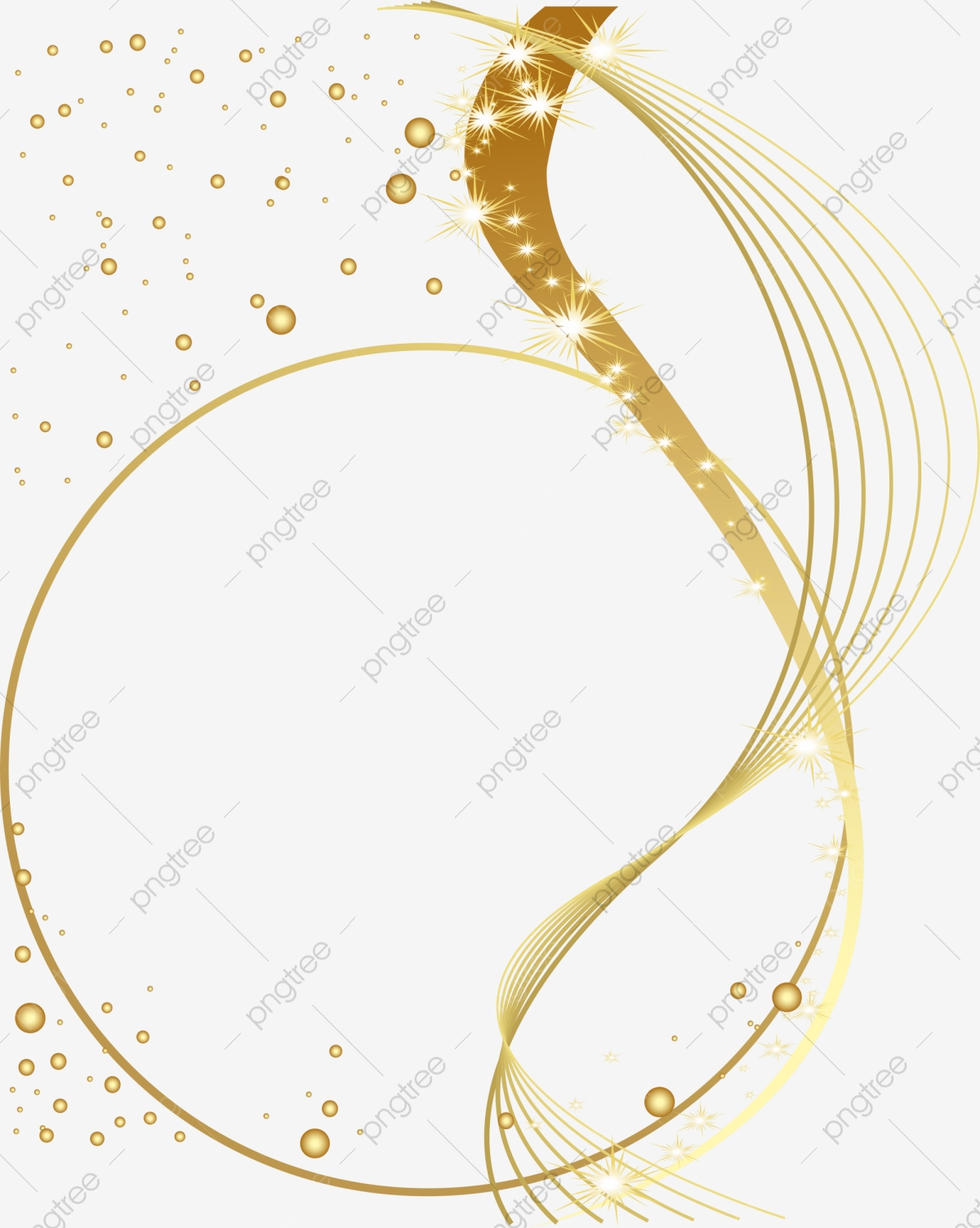 Gold Shines Rays Shine, Golden, Shine, Line PNG Transparent Image.