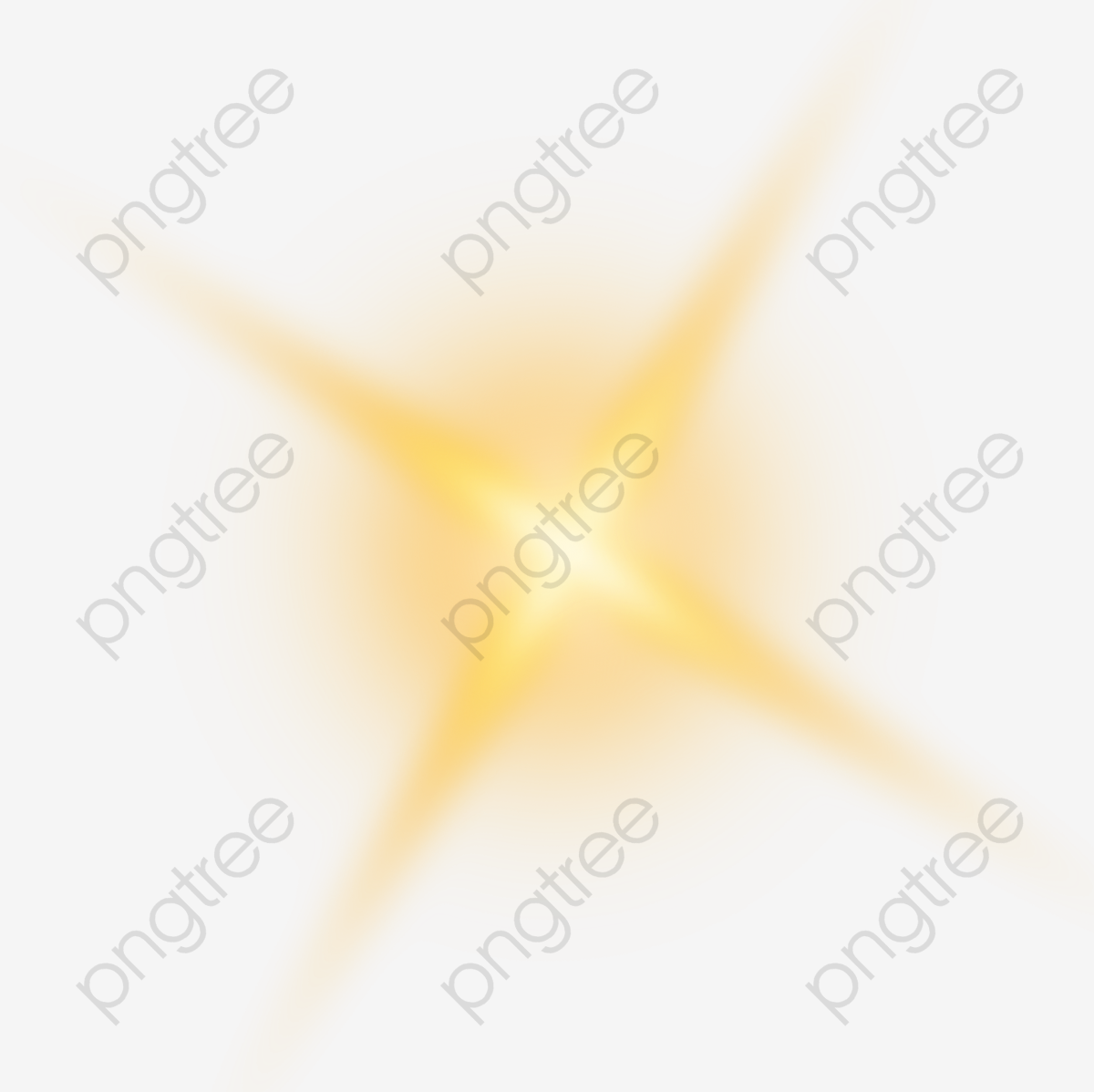 Golden Shine Light Effect Element, Shine, Light PNG Transparent.