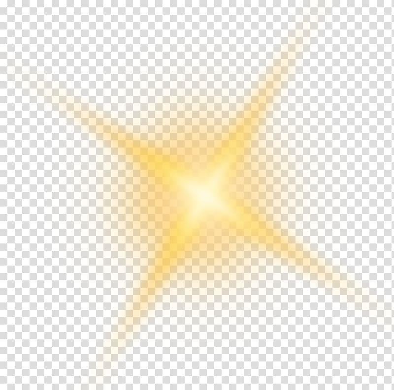 Sunlight, Golden shine light effect element transparent background.