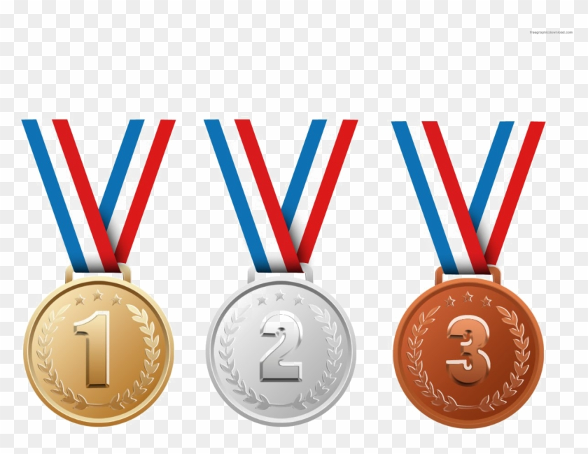 Gold Silver And Bronze Medals Png Transparent Image.