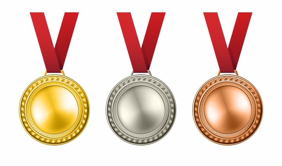 Gold Silver Award Clip Art Medals Set Ⓒ.