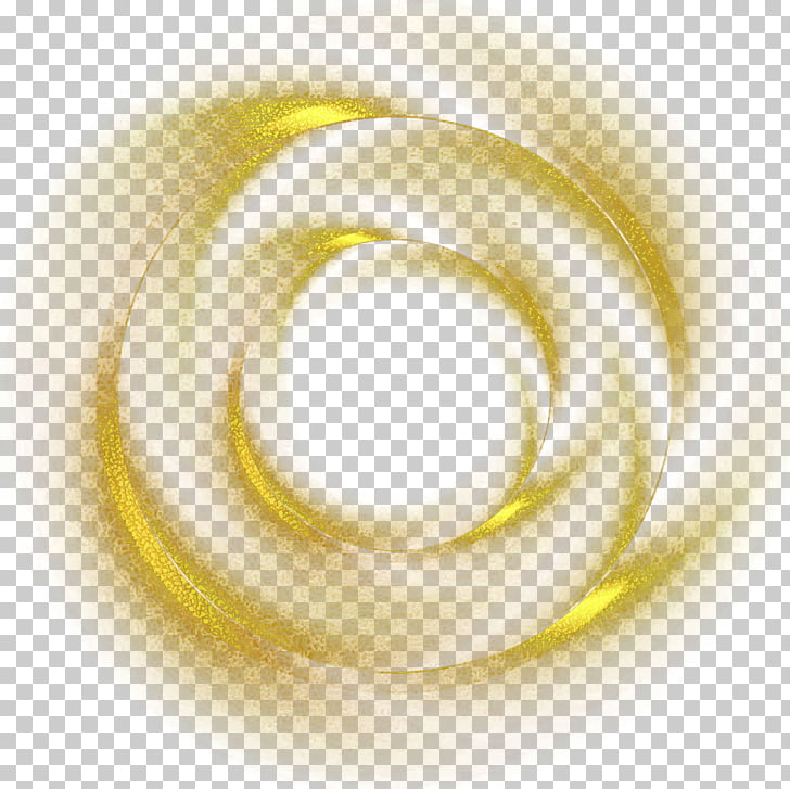 Light, Golden circle, gold dust smoke PNG clipart.