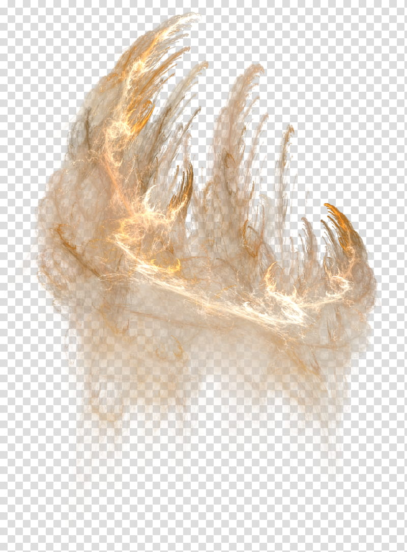 Fire on the Horizon, brown smoke transparent background PNG.