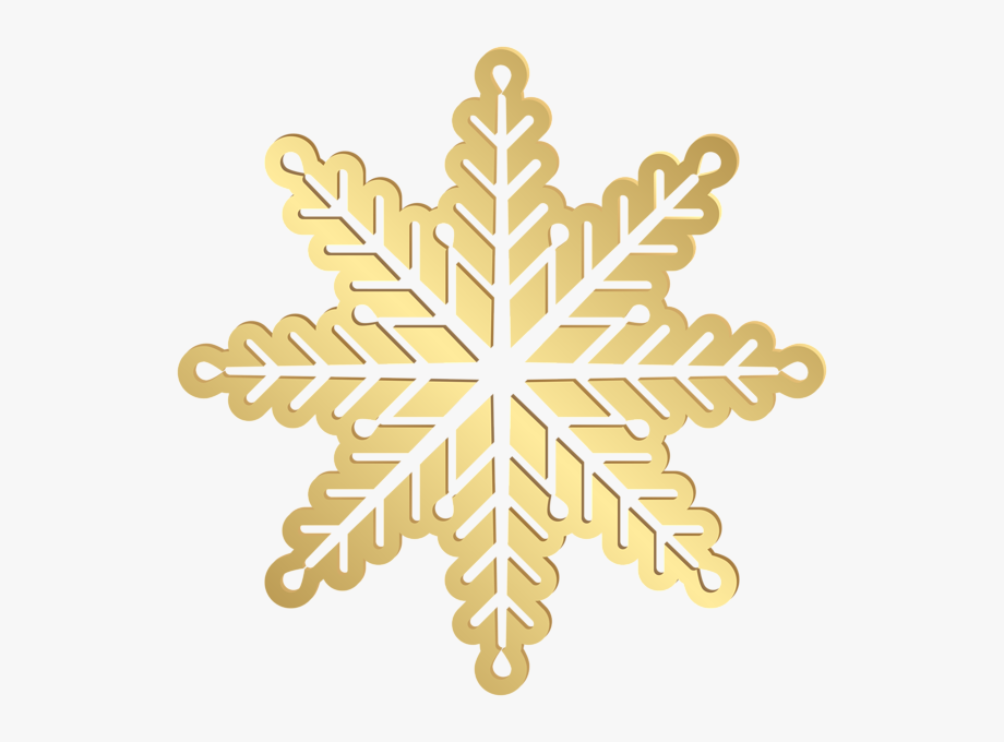 Gold Snowflake No Background Clipart.