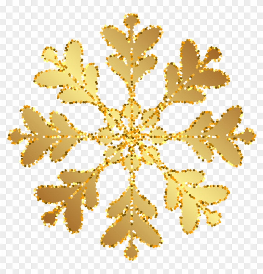 Free Png Download Gold Snowflakes Transparent Background.