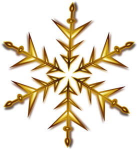 Gold Snowflake Clip Art at Clker.