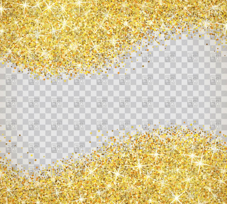 Gold Sparkle Clip Art Vector.