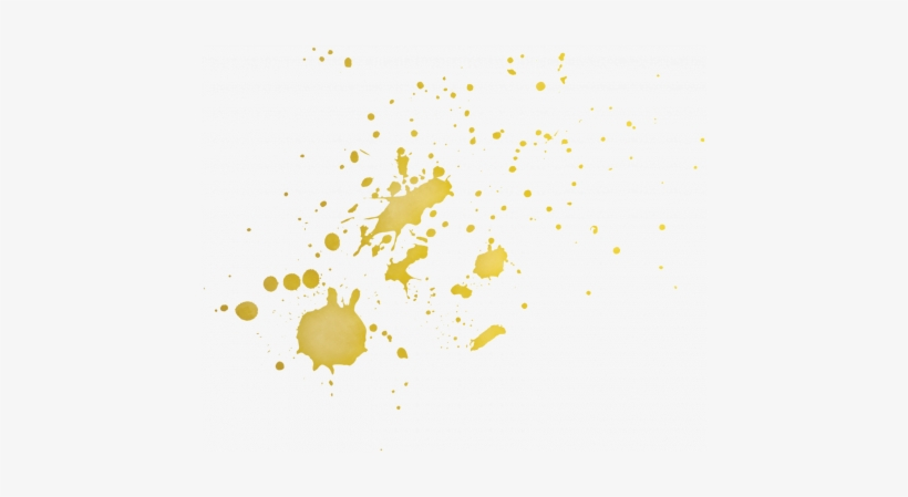 Gold Splatter Png.