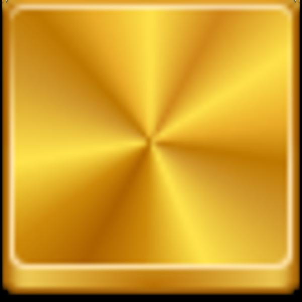 Gold Square clipart.