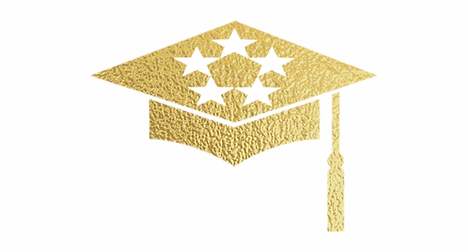 Grad Cap Gold Square.